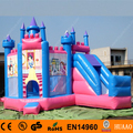 Free Shipping 3 in 1 Princess Inflatable Bouncy Castle Combo for Kids With Free CE Blower