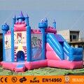 Frete Grátis 3 em 1 Princesa Inflável Castelo Inflável Combo para Crianças Com Ventilador Livre CE