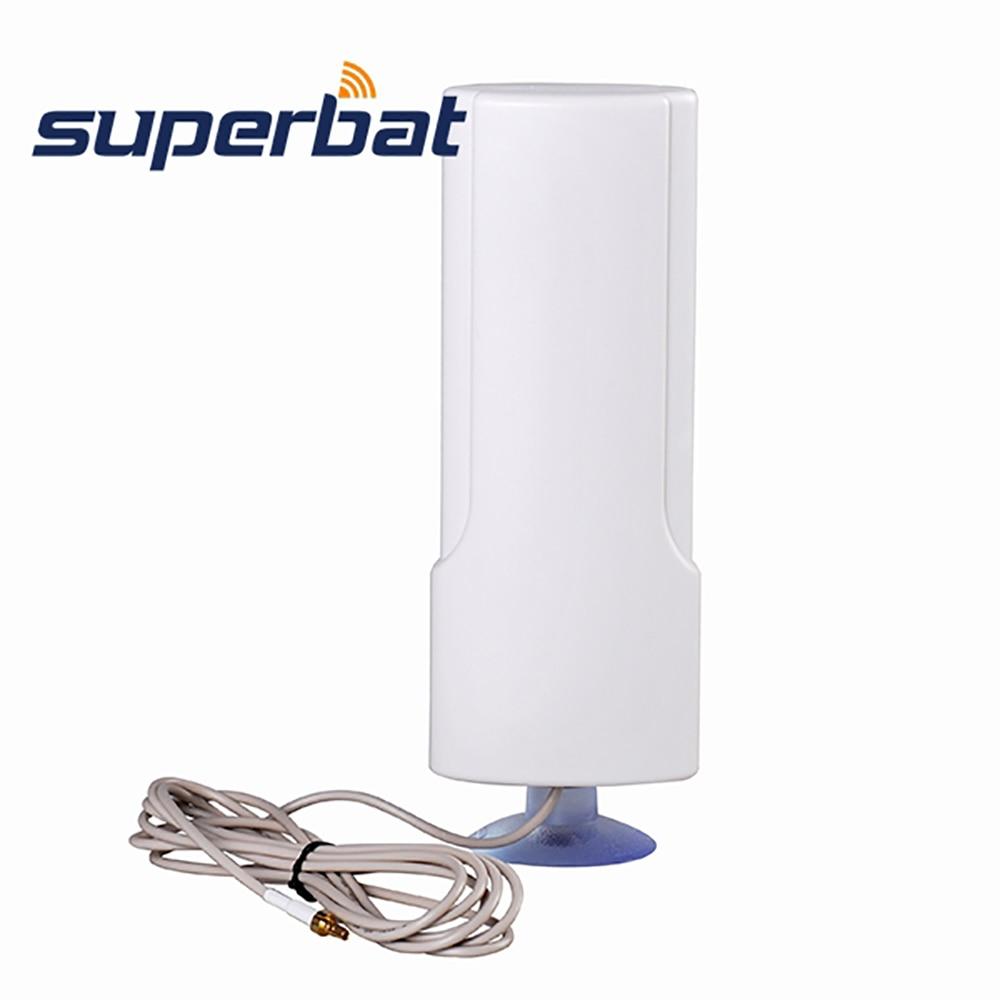 Superbat 4G LTE Antenna 698-960 / 1710-2690MHZ 25dBi Huawei Router ZTE USB Modem Booster Sucker üçün Hava CRC9 birləşdiricisi