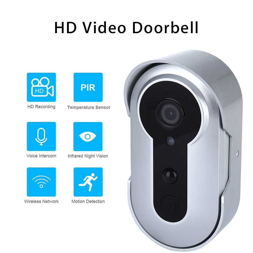 WiFi HD Video Camera Doorbell Real-time Remote Video Intercom Two Way Audio IR-Cut Night Vision Motion Detection For Android IOS  wireless charger wifi remote control car with fpv camera infrared night vision camera video toy car tanks real time video call