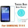 Mejor prima de cristal templado protector para samsung galaxy tab 3 Lite T110 T111/T116 7 ''Tablet HD Clear Protector de pantalla de Cine cubierta