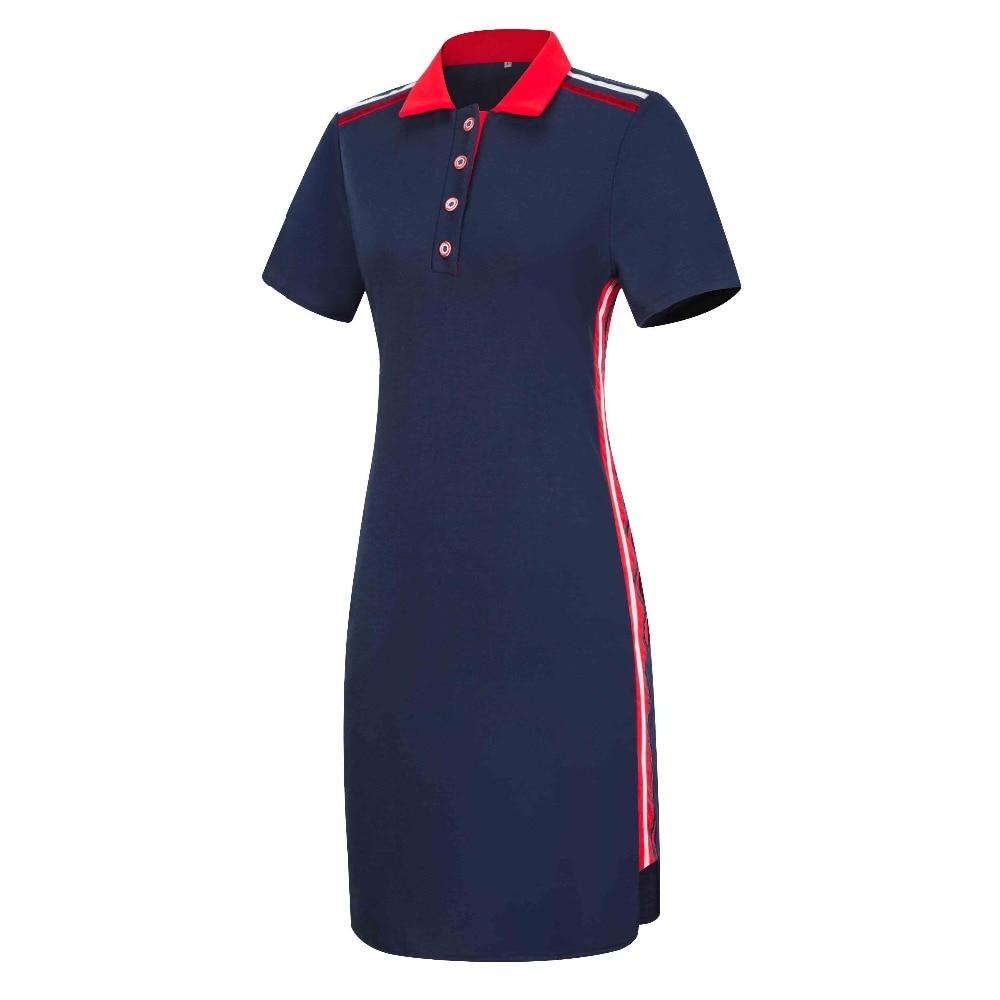 Women Plus Size Short Sleeves Polo T Shirt Top Stripe Bodycon Midi  Pencil Dress