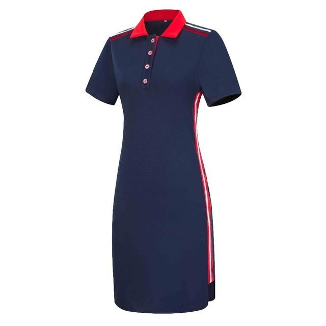 b5596442cb6 Women Plus Size Short Sleeves Polo T Shirt Top Stripe Bodycon Midi Pencil  Dress