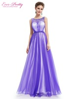 Ever Pretty Evening Dresses HE08747SB Women S Elegant Beautiful Sapphire Blue Round Neck Sleeveless Long Evening