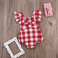 Satin Floral Bodysuit Baby Clothing Cool Baby Girls Plaid Bloomer Suit Set Body jumpsuit Summer Style