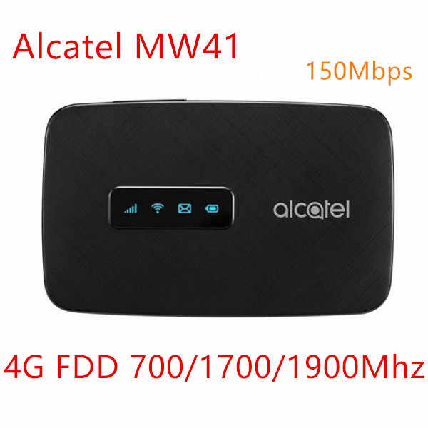 Unlocked Alcartel linezone hotspot MW41 4G LTE cat4 WiFi router FDD LTE B2/4/12 150 Mbps 4G mifi pocket wifi lte router mifi5792