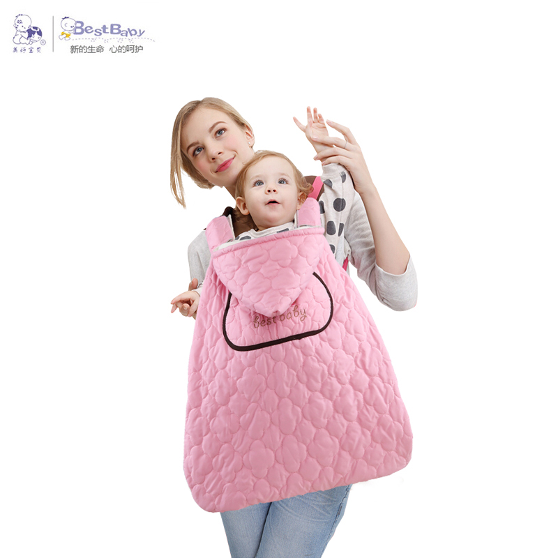 Backpacks & Carriers 2017 Winter Coral Velvet Warm Baby Carrier Cloak Baby Sling Mantle Cover Windproof Baby Backpack Cloak Carrier Cover Cloak
