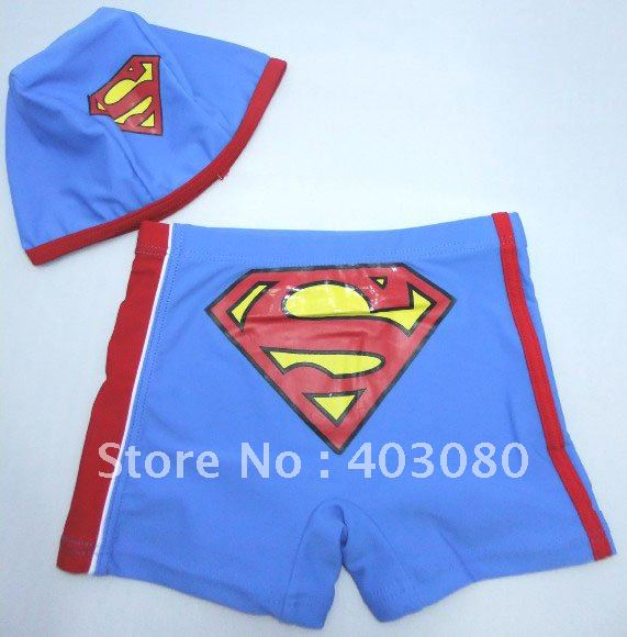 age:2-7 boy superman beach shorts,kid trunks,baby superman Prevent bask in clothes