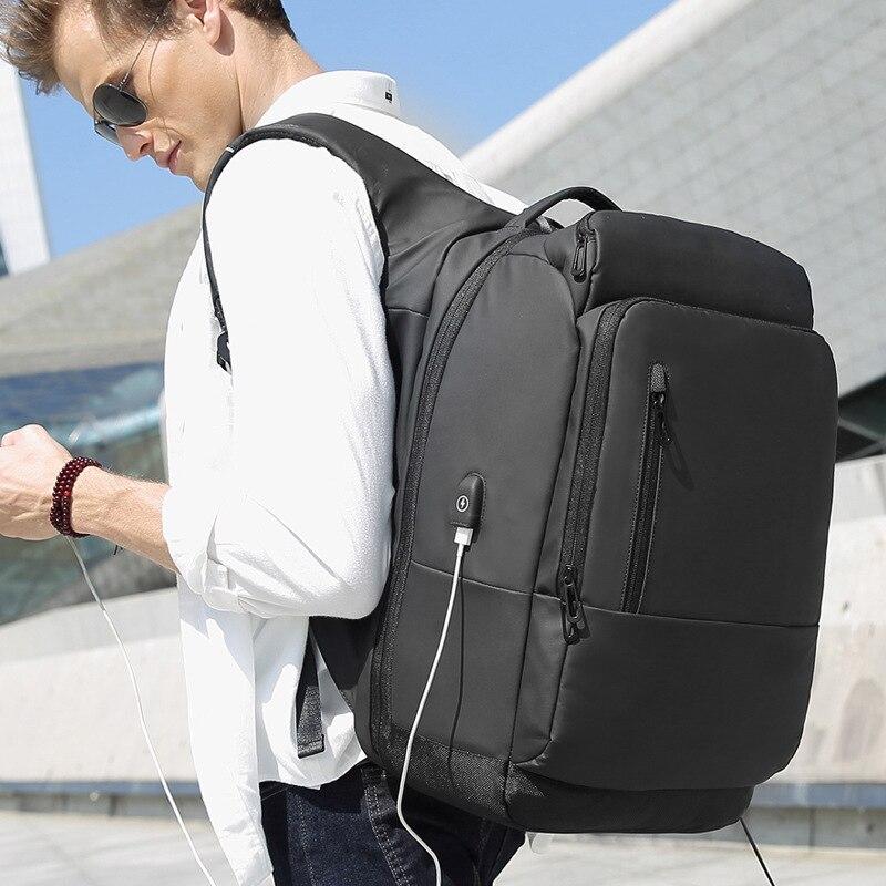 backpacks men USB Charging jack travel backpack waterproof shockproof 17 Inch laptop backpack for teenagers stylish