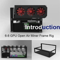 LESHP Open Air Frame Mining Rig Overlying Case Rack for 6 GPU for ETH Computer Chassis Miner Frame Case for Ethereum for Bitcoin