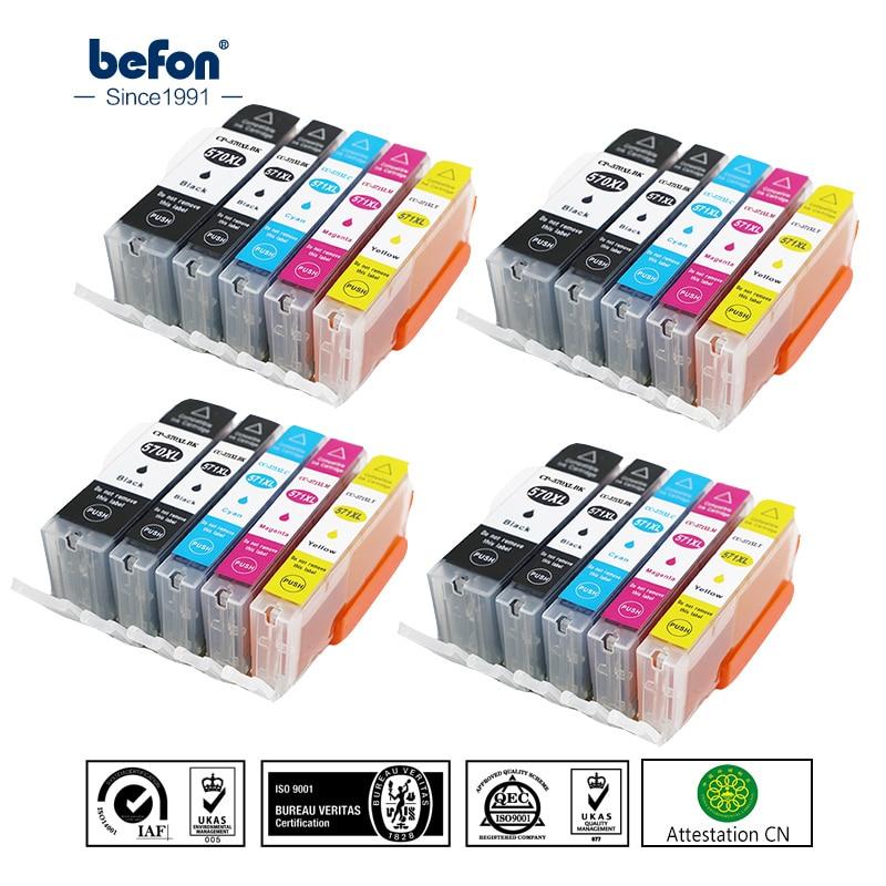 befon 570 571 XL Ink cartridge Replacement for Canon PGI570 CLI571 PGI Pixma MG5750 MG5751 MG5752 MG5753 MG6850 MG6851 Printer