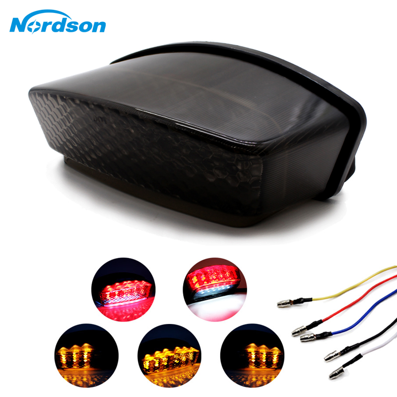 Nordson Motorcycle Taillight Tail Brake Turn Signals Integrated Led Light For Ducati Monster 400/620/695/750/800/900/1000 94-08