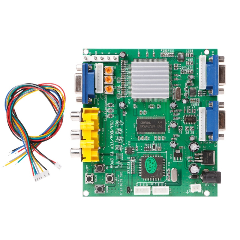 Arcade Game RGB/CGA/EGA/YUV To Dual VGA HD Video Converter Adapter Board GBS-8220 #H029# Drop shipping new xvga box rgb rgbs rgbhv mda cga ega to vga industrial monitor video converter with us plug power adapter