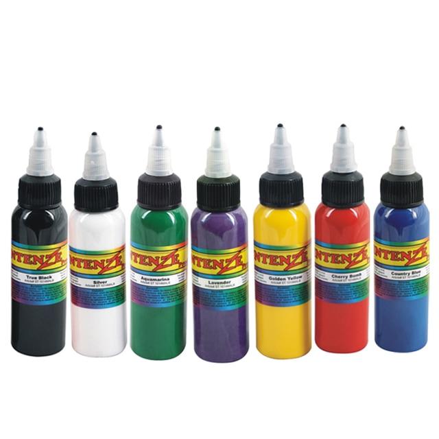 7pcs Permanent Makeup Pigment Ink 7colors Tattoo Ink Kit 60ml(2OZ) Tattoo Paint Set