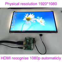 DIY 13.3 Inch IPS 1920*1080 FHD LCD Screen with HDMI Drive Board Set Car Raspberry Pi 3 Banana 1080P LED Monitor Module Full New