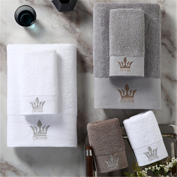 Diamond hotel white cotton bath towel adult men and women family outdoor embroidery jacquard bath towel