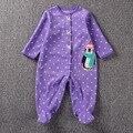Bonito Dos Desenhos Animados do Pinguim Do Bebê Recém-nascidos BB Quente Pijamas Romper Do Bebê Roupas de Menina Dot Impressão Nice Jumpsuits Crianças Roupa Nova Cousume