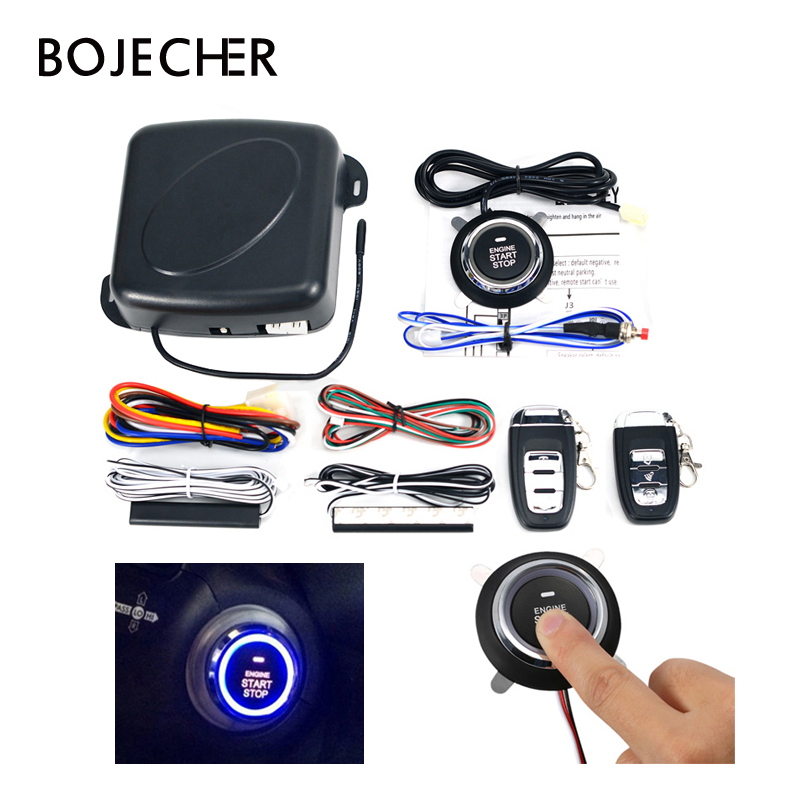 12V auto Car SUV Keyless Entry Engine one Start stop system Push Button with Remote control car Starter via free shipping цена 2017