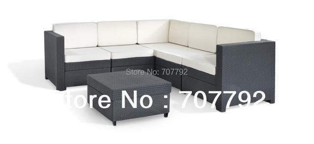 2017 Nuevos Productos Al Aire Libre Muebles de Mimbre Patio Sofá Set ...