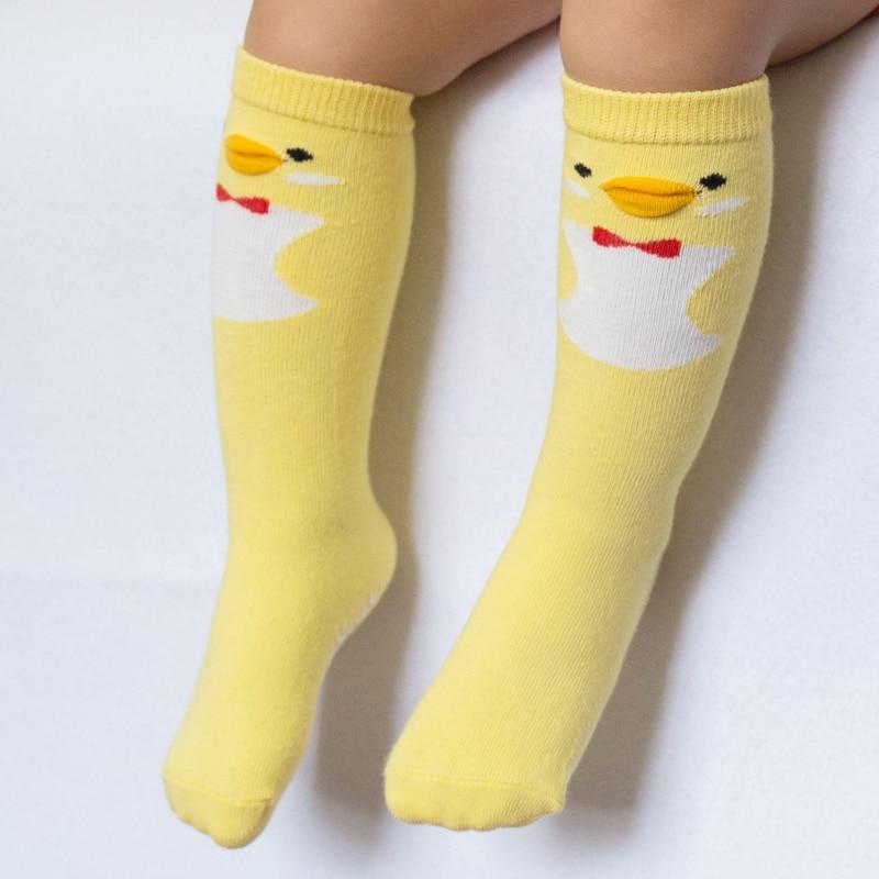 Kids Cotton Socks Knee High Toddler Sock Anti Slip Leg