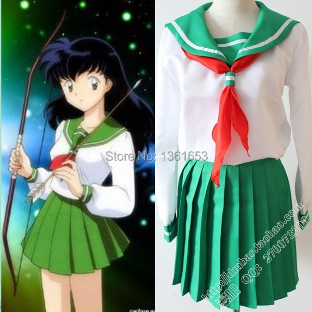 Anime Inuyasha Cosplay Higurashi Kagome Costum Cosplay Costum Sailor - Costume carnaval