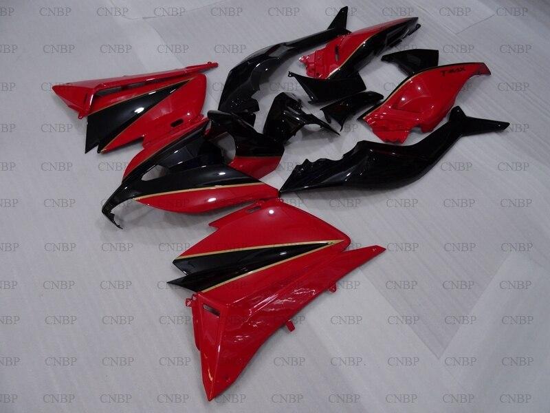 Pour YAMAHA TMAX530 14 Kits carrosserie complète TMAX 530 2013-2014 carénage rouge noir TMAX 530 13 carénage moto