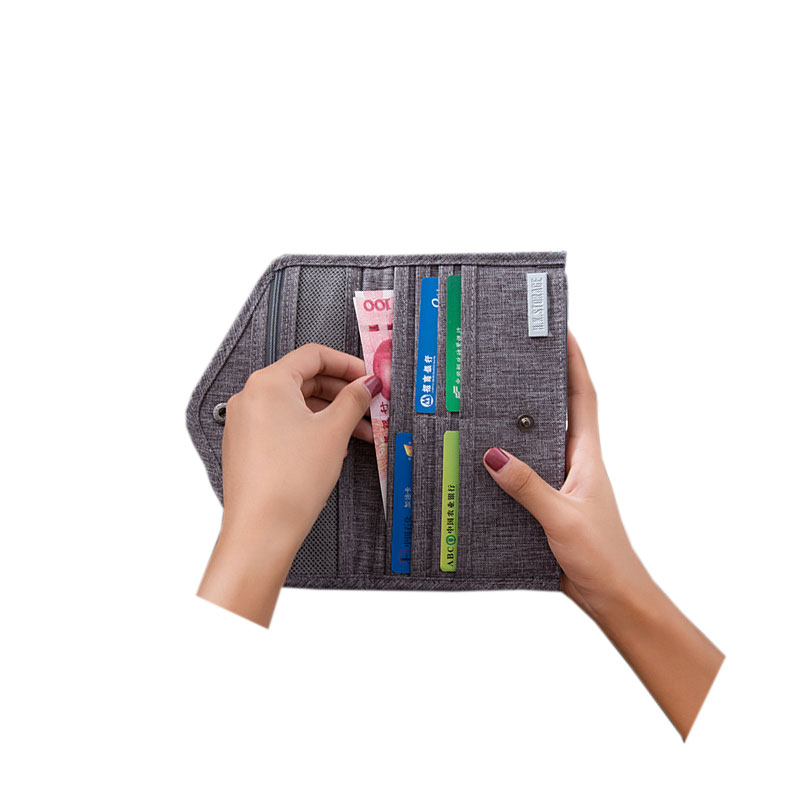 2018 Casual Men Travel ID Cards Holders Hasp Opening Plane Ticket Cover Polyester Passport Women Credit Card Bags