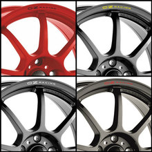 OZ RACING Rims Alloy Wheels Curved Decals Stickers for abarth Seat  alfa romeo