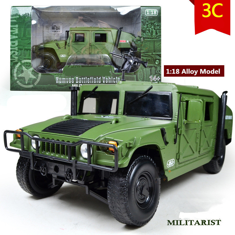 High quality 1:18 Alloy Military Model,Diecast toys,Metal Humvee,High-end model, military collection, Hummer car,free shipping high simulation 1 18 advanced alloy car model volkswagen golf gti 1983 metal castings collection toy vehicles free shipping