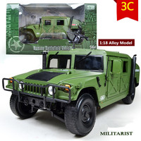 High quality 1:18 Alloy Military Model,Diecast toys,Metal Humvee,High end model, military collection, Hummer car,free shipping