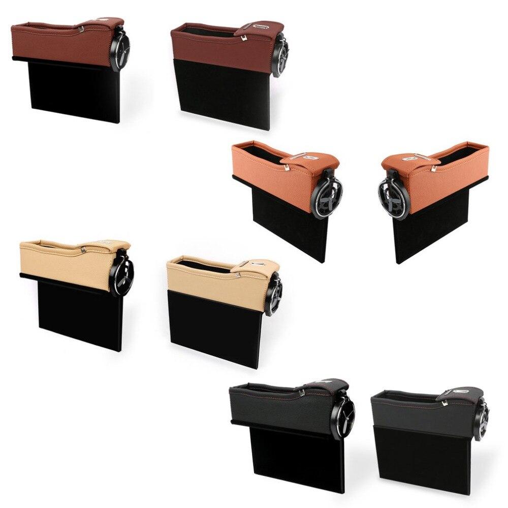 Siège de voiture Crevasse Boîte De Rangement Tasse Boisson Titulaire Organisateur De Voiture Styling Auto Fossé Poche Rangement pour Téléphone Carte Porte-Monnaie accessoires