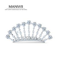 Невеста корона вставить AAA циркон тиара волосы палку для женщин заколки ювелирные изделия серебристые заколки свадебные волос аксессуары ...