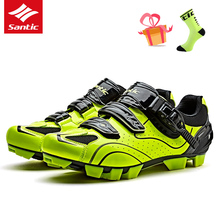 SANTIC Men Pro MTB Bike Shoes Cycling Shoes Outdoor Riding Sneakers Breathable Self-Locking Sport Mountain Bicycle Shoes for Man