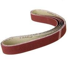 5Pcs 1 X 30 Schurende Schuurbanden 240 Grit Bandschuurmachine Grinder Schuren Papier Voor Slijptol