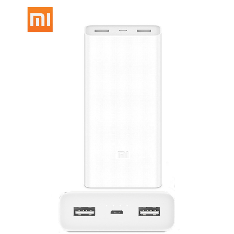 20000mAh batterie externe d'origine Xiao mi double USB mi batterie externe banque 20000 2C chargeur pour iPhone 11 pro Samsung Huawei Android