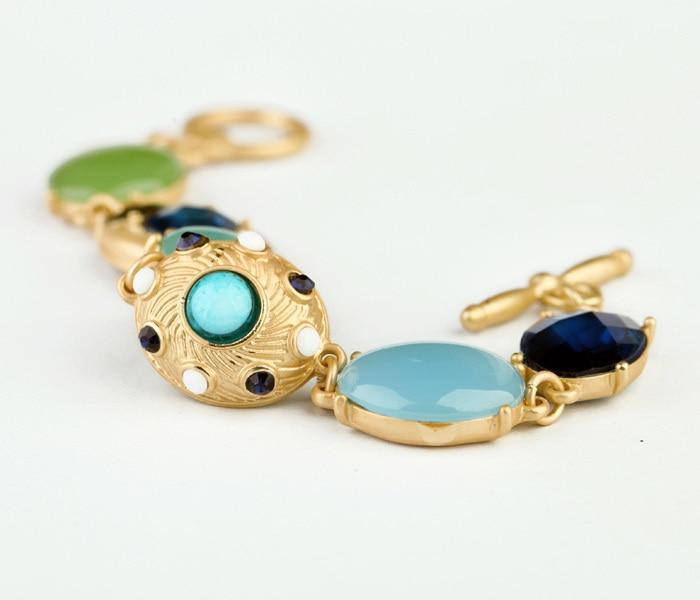 Novi Dolazak Nakit Shiny Gem Stone Visokokvalitetne narukvice u boji - Modni nakit - Foto 3