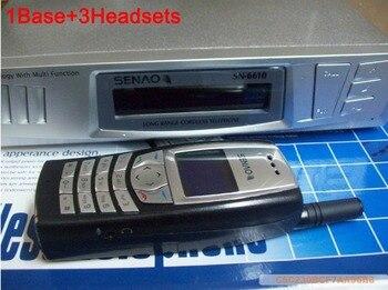 Telefone sem fio SENAO 6610 Portátil SN6610 1 9 fone extra Duplex Intercom UM conjunto de base de apoio de 1 Base + 3 fones de ouvido