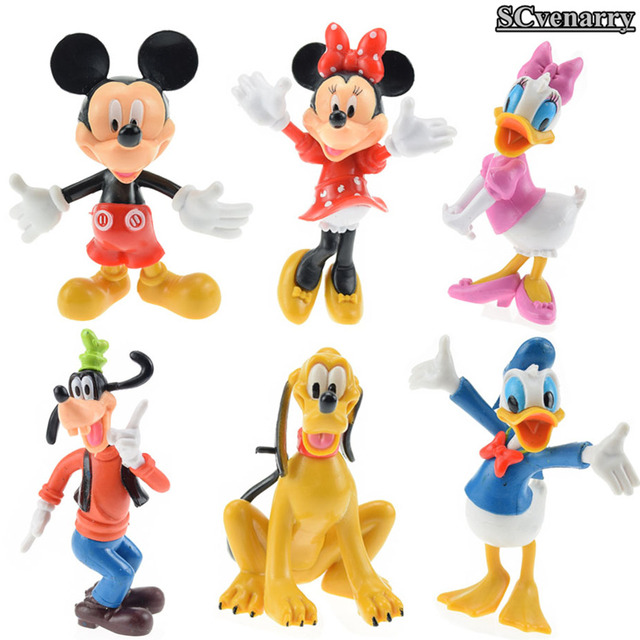 anime donald duck pluto goofy pvc action figure model toys baby toy christmas gift 10cm 6pcs - Donald Duck Christmas