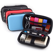 NEW Digital Bag Headphone Case Leather Hard Disk Bag Protective Usb Cable Organizer Portable Earbuds Pouch box