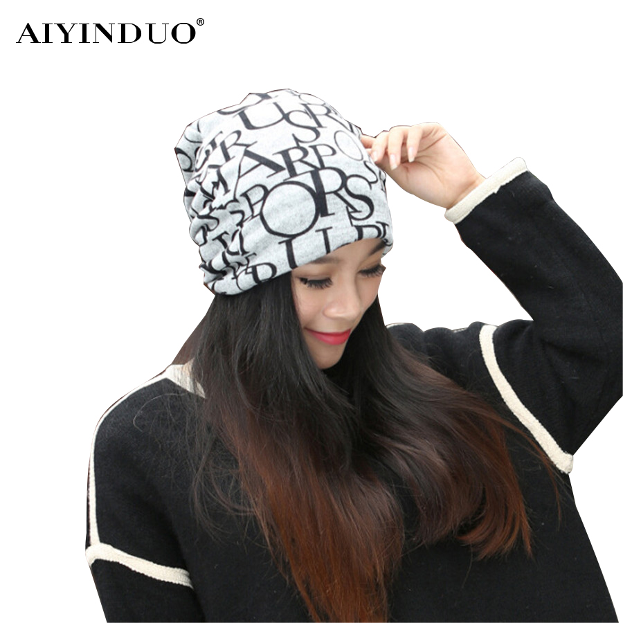 New Arrival 2 Use Cap Knitted Scarf Winter Hats for Women Letter Beanies Women Hip-hot Skullies Girls Gorros Hat rosicil skullies beanies winter hats for women letter beanies women hip hot caps skullies girls gorros women beanies female