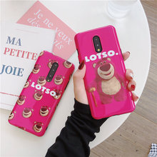 Cute Strawberry Bear Phone Case For OnePlus 7 7Pro Cases Cartoon Lotso Soft TPU IMD Back Cover For One Plus 7 Pro 1+7 Funda Capa