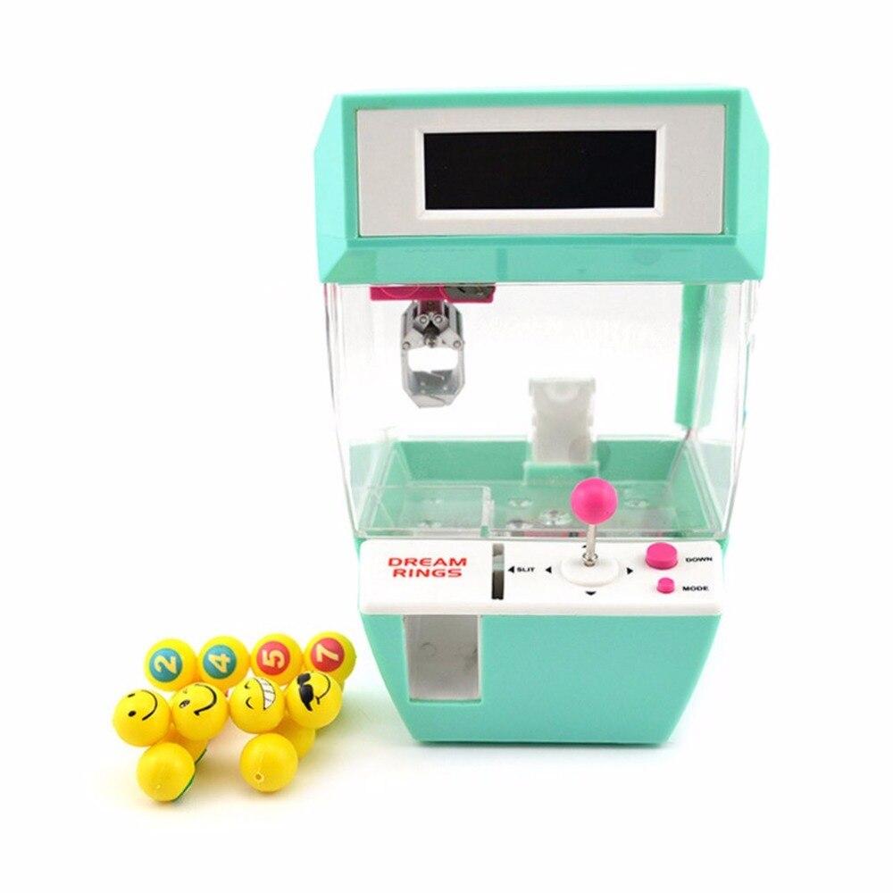 Детская мини кукольная машина кран коготь с будильником монета конфетный захват куклы шары Catcher настольная игра игрушки для детей