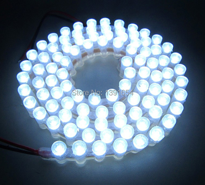 Free Shipping High Quality 96Leds/M Car Decoration stri[p Silicon tube waterproof Dip5MM Flat led Great Wall strip