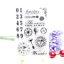 DECORA 1PCS Flower Clock Butterfly Design Silicone Transparent Clear Stamp DIY Scrapbooking Christmas Decoration Supplies