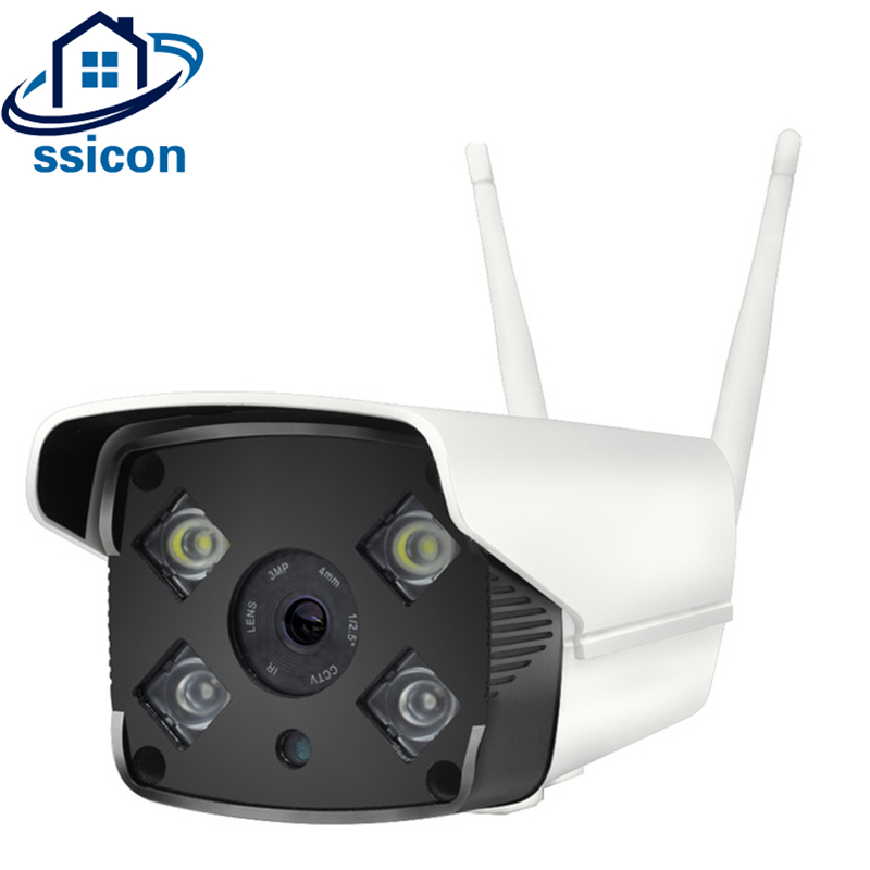 SSICON Outdoor WIFI Bullet Camera 4Pcs Array leds Two Way AUDIO Waterproof Wireless Security Camera Support 128G TF CardSSICON Outdoor WIFI Bullet Camera 4Pcs Array leds Two Way AUDIO Waterproof Wireless Security Camera Support 128G TF Card