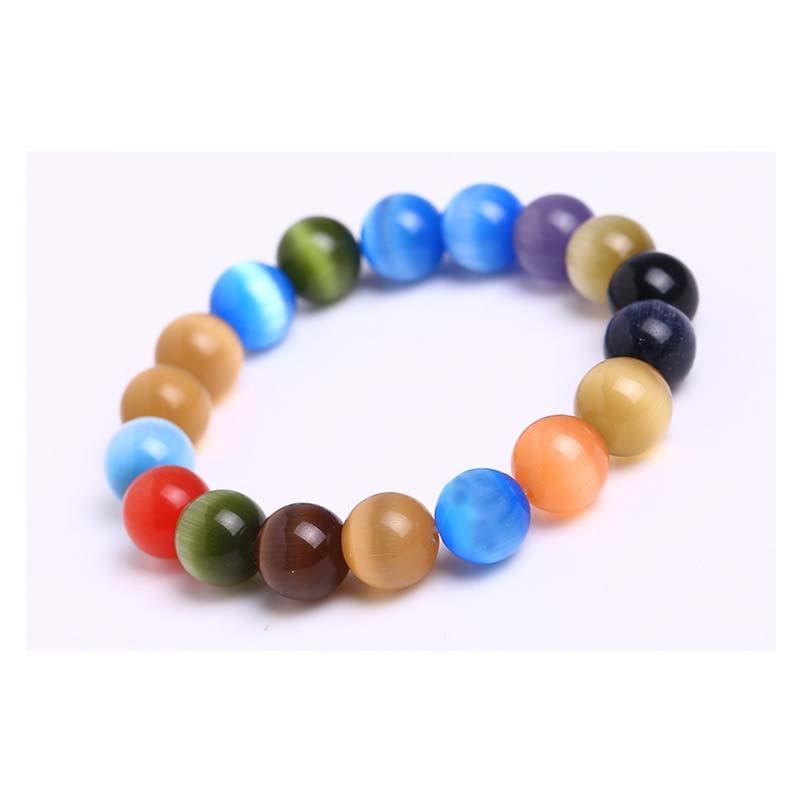 1pcs Natural Gems Stone Wristband Bracelets Women's Simple Circle Chips Nuggets Clear Quartz Opal Moonstone Stone Bracelets