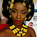 Splendid Yellow and Black Women Costume African Jewelry Set Indian Nigerian Wedding Statement Necklace Set Free Shipping WD622