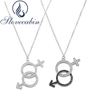2017 Russia Hot Sale 925 Sterling Silver Boy And Girl Pendant Necklace For Women Fashion Jewelry