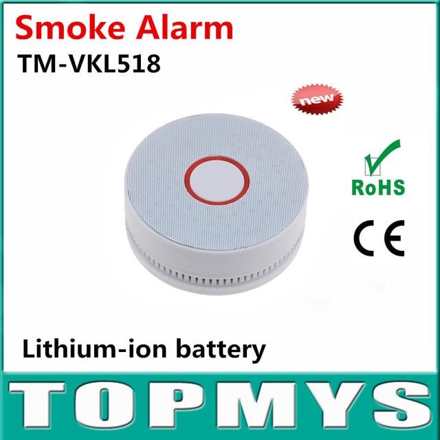 Indoor Smoke alarm TM-VKL518 black white Smoke detector lithium-ion battery detector de humo With LED buzzer alarm detector