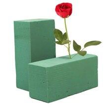 1 pçs seco flor titular/flor lama design lidar com nupcial floral espuma casamento flor titular diy decoração retângulo forma